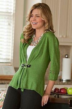 Jam...sweatshirt redo...Cachet Cardigan from Soft Surroundings on shop.CatalogSpree.com, your personal digital mall.