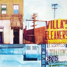 Jon Measures - In The Neighborhood Number 2013 A Level Art, Built Environment, Mixed Media Collage, Urban Landscape, Photomontage, Wood Paneling, Great Artists, Digital Prints, Pop Art