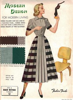 "Fashion Frocks 1317 ""Modern Design for Modern Living"" (CollectoratorOne) Tags: fashion illustration vintage clothing dress drawing fashionfrocks Moda Vintage, Vintage Mode, Vintage Style, Vintage Outfits, Vintage Dresses, Vintage Wardrobe, Vintage Clothing, 1940s Fashion, Vintage Fashion"