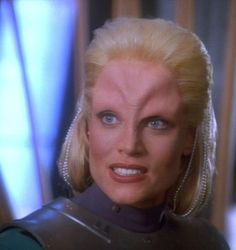 """Pp: """"Melora (played by Daphne Ashbrook in Star Trek: Deep Space Nine). Okay, so I totally found her fling with Bashir to be adorable. Star Trek Tv, Star Trek Series, Star Wars, Star Trek Characters, Female Characters, Aliens, Science Fiction, Deep Space 9, United Federation Of Planets"""