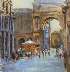Piazza della by Nancie Mertz was awarded Outstanding Pastel in the December 2014 BoldBrush painting competition.