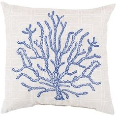 Blue Coral Outdoor Pillow