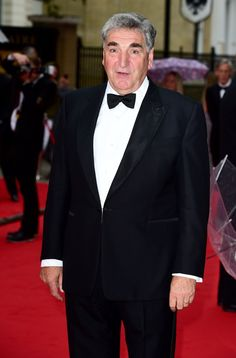 The gorgeous Jim Carter arriving at the BAFTA tribute to Downton Abbey ..