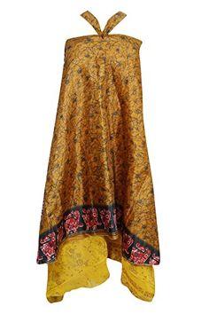 Women's Vintage Wrap Skirt Tow Layer Silk Sari Reversible... https://www.amazon.com/dp/B0734ZGS82/ref=cm_sw_r_pi_dp_x_Bg8uzb32DA452