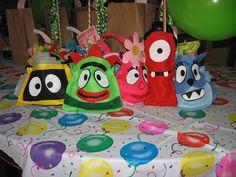 homemade Party Bags Yo Gabba Gabba   #YoGabbaGabba
