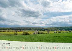 Fotokalender Thüringer Landschaften 2016, April