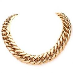 Jumbo Curb Link 18K Gold Chain Necklace  #chainnecklace #necklace #gold