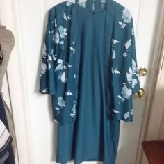 True Vintage Anthony RICHARDS 2 PC Sleeves Dress with Jacket Size 18  #ANTHONYRICHARDS