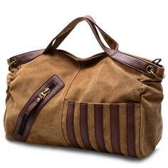 Casual Color Block and Canvas Design Women's Tote Bag, KHAKI in Tote Bags | DressLily.com