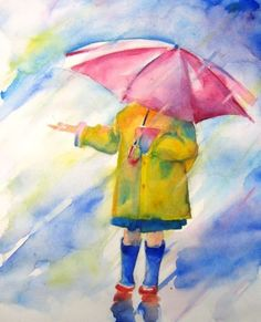 Enfeite-se raining watercolor painting