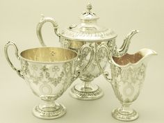 Queen+of+England+antique++silver+tea+service | Sterling Silver Tea Service - Antique Victorian - AC Silver