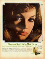 1965 vintage cosmetics ad, 'Nouveau Neutrals' eye make-up, Max Factor -042813a