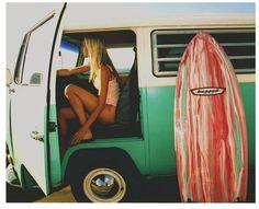 summer in the Volkswagen van. ultimate dream!