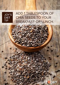 Daily clean eating tip: Add 1 tablespoon of chia seeds to your breakfast or lunch for a nutritious boost.