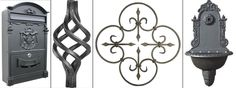 kované a litinové prvky, kované ploty