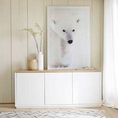 Buffet en chêne massif blanc satiné L 175 cm Austral | Maisons du Monde