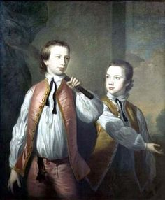 The Courtenay Brothers, c.1751, by Thomas Hudson (1701-1779)