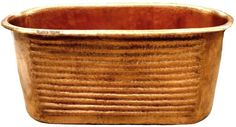Custom Hammered Copper Bathtub Order a Custom Hammered Copper Bathtub to transform your bathroom into extraordinary space. The bathtub is hand hammered having in mind early American style. The copper bathtub is supplied with four decorative rings and finished in natural color or treated with patina are the standard choices. Its size and style shown on the product page are in the greatest demand. The tub is available with any dimensions and patina of choice. It takes about 4 weeks to deliver…