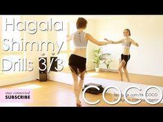 Bellydance DRILLS: Hagala, 3/4 Shimmy (pt 3 of 3) Coco Berlin - YouTube