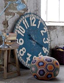Oversized Blue Clock