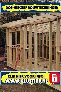 Indoor Outdoor, Pergola, Construction, Outdoor Structures, Building, Wood, Diy, Garage, Log Homes