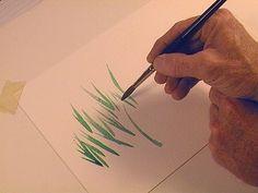 6 Secret Brush Skills for Watercolor Painters:  Wrist Flick