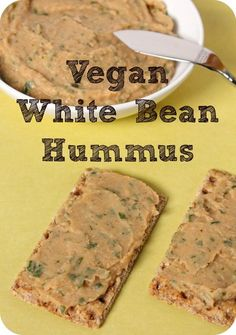 white bean hummus--quick to make, super flavorful, and totally vegan