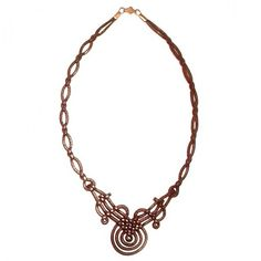 Braided leather necklet V09