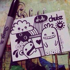Cute Doodle Art, Doodle Art Designs, Doodle Art Drawing, Doodle Sketch, Pencil Art Drawings, Kawaii Drawings, Art Drawings Sketches, Easy Drawings, Cute Art