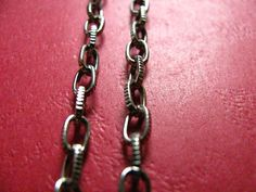 3.28 Feet 1 meter  7x4 mm Silver Tone #Textured http://etsy.me/1ErD6YT #jewelry #ring #mount #brass #gem #bezel #setting #bead #chain