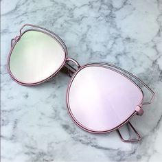 SALE! Pink silver mirrored sunglasses bar aviators Now these stunna shares are trendy!  metal alloy/glass Photo credit: Wholesaler   ships immediately wila Accessories Sunglasses