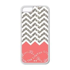 iPhone 5C Case - Turquoise Infinity Chevron Live the Life You Love, Love the Life You Live