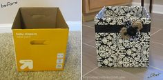 More ways to spice up blah storage boxes