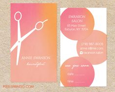Not sure about the type on the back eek but i love the idea of hairstylist business cards hair salon cards colourmoves