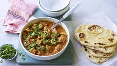 Lamb bhuna with garlic naan recipe - BBC Food Fried Fish Recipes, Lamb Recipes, Indian Food Recipes, Chicken Recipes, Ethnic Recipes, Curry Recipes, Family Recipes, Meat Recipes, Vegetarian Recipes