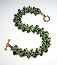 Beaded Bracelet Beadweaving Handmade Seed by SweetchildJewelry