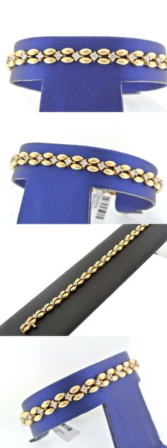 Diamond 10976: 14K Yellow Gold 1.00 Ct Diamond Ladies Bracelet, 11.8Gm, 7 Inches -> BUY IT NOW ONLY: $795 on eBay!