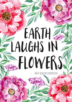 Download you FREE floral Spring printable today! This beautiful quote with gorgeous watercolour flowers and foliages is the perfect print for your home