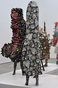 Nick Cave: A view of Soundsuits in the main gallery.