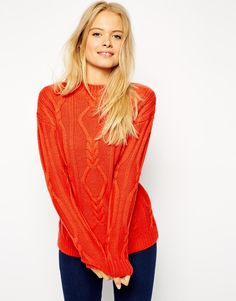 ASOS Oversized Cable Jumper