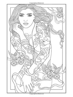 97 best body art tattoo coloring pages for adults images on