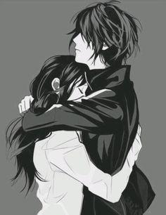 Yato and Hiyori Noragami manga couple Yatogami Noragami, Anime Noragami, Yato And Hiyori, Couple Manga, Anime Love Couple, Cute Anime Couples, Anime Couples Hugging, Anime Couples Sleeping, Couple Hugging