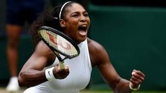 Serena Williams beats Angelique Kerber to win a record-equalling 22nd Grand Slam title at Wimbledon.