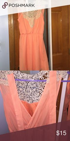 Dress Cute summer dress, has a slip underneath. Only worn once. Charlotte Russe Dresses