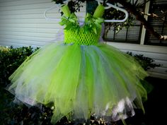 Tinkerbell costume. Perfect for Halloween or a pixie party. Tutu dress. Disney fairy. So precious. Only $38.99 ?!!