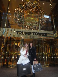 Amber and I Christmas shopping in NYC