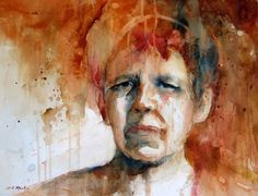 """Cason works across several mediums including watercolor, charcoal and acrylic. In 2014, she was selected to be included in North Light Shop's book """"Art Journey Portraits and Figures."""" She often works from photographs in order to help her convey the intensity of a person's feelings.#WNC Artists #RADartist #RiverArtsDistrict #Asheville"""