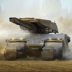 Sci-Fi Fantasy Horror — The super impressive sci-fi themed vehicles and. Sci Fi Weapons, Concept Weapons, Futuristic Technology, Futuristic Cars, Army Vehicles, Armored Vehicles, Future Weapons, Sci Fi Ships, Military Weapons