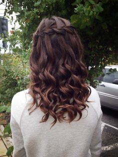 My hair for homecoming 2013!