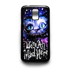 Samsung Galaxy s5 Case,Alice In Wonderland Cats Smile Mad Here  Free Shipping Registered Air mail (USA tracing number by USPS) Sublimation layer enamel plat design Made from durable plastics High Resolution Printing Processed handmade 100% scratch proof and water proof Slim and protect your phone from dust and scratch Easy to snap in and access to all ports, control and sensors